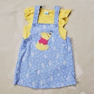 Disney Winnie The Pooh Dress & Onesie 24M